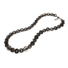 Load image into Gallery viewer, Sea Chain Resin Necklace Matte Black