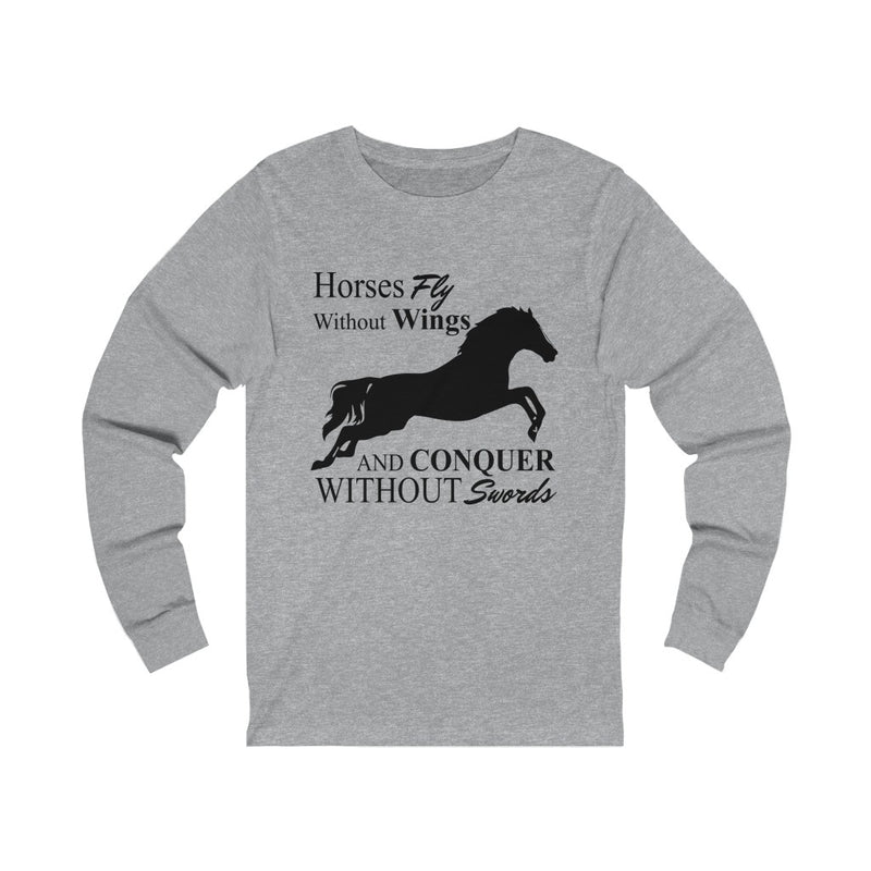 Horses Fly Without Unisex Jersey Long Sleeve T-shirt