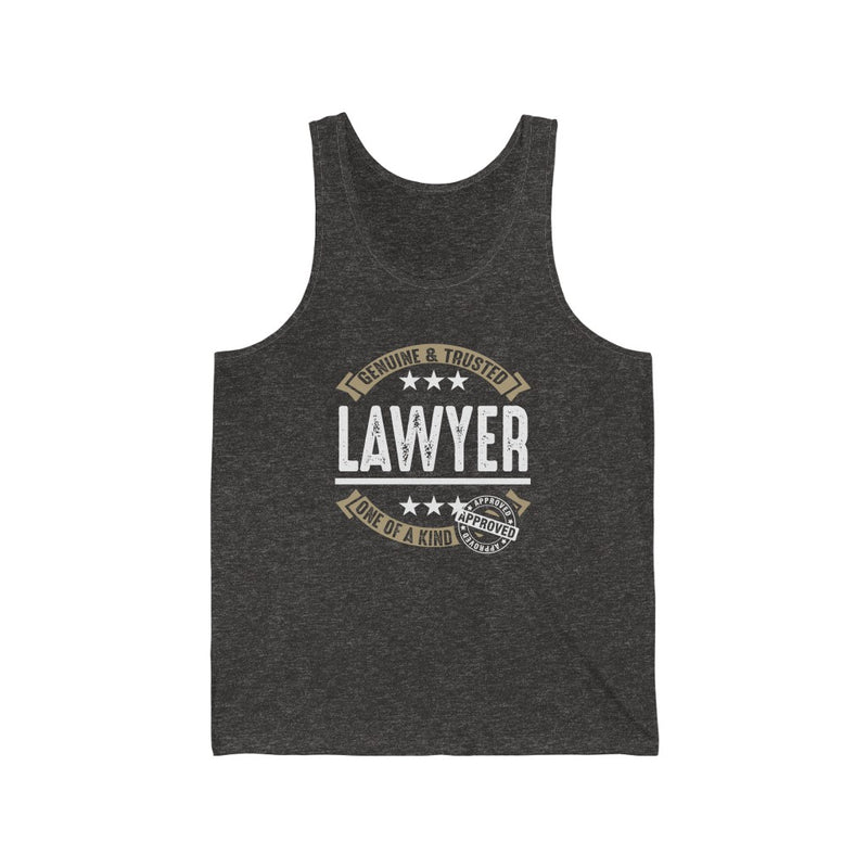 Genuine and Trusted Lawyer Unisex Jersey Tank