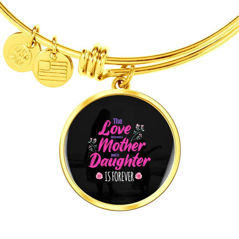 The Love-Mother And Daughter Bangle Bracelet