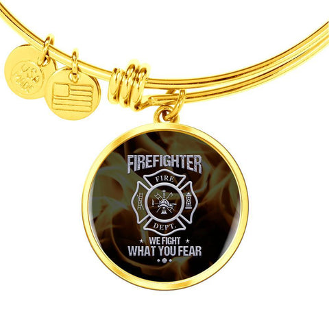 We Fight What You Fear Bangle Bracelet