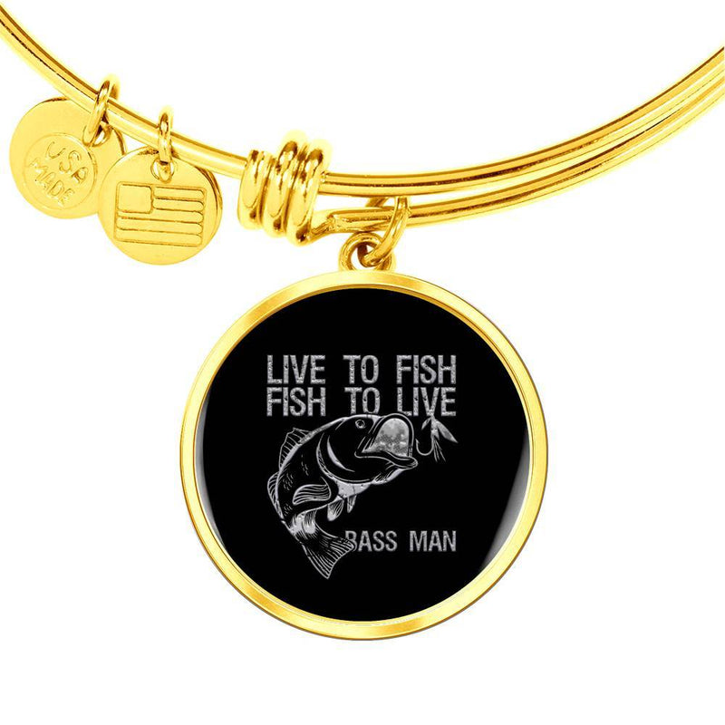 Live to Fish-Fish to Live Bangle Bracelet