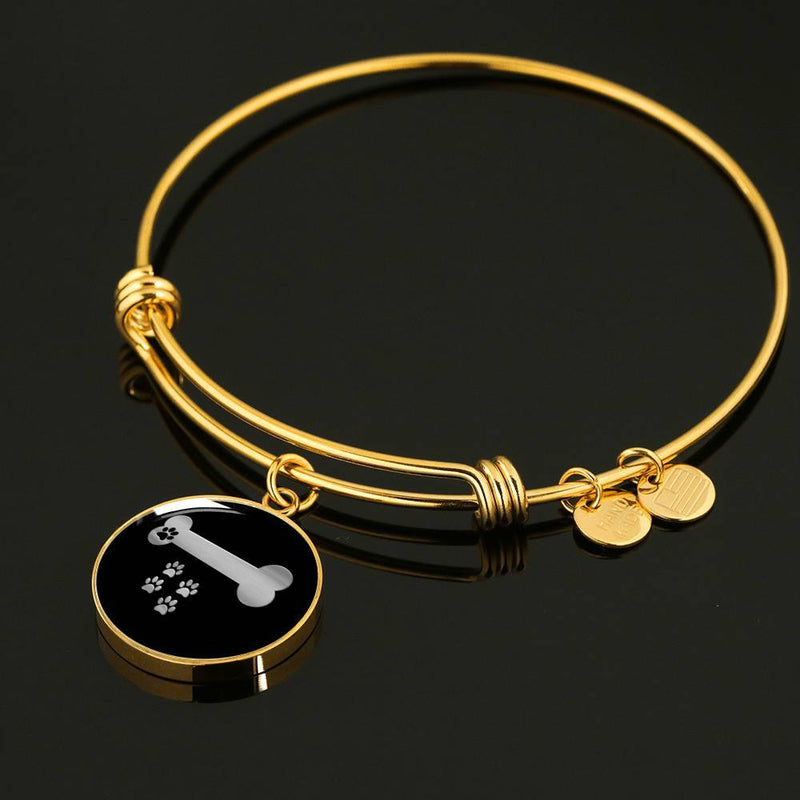 Paws And Bone Dog Bangle Bracelet