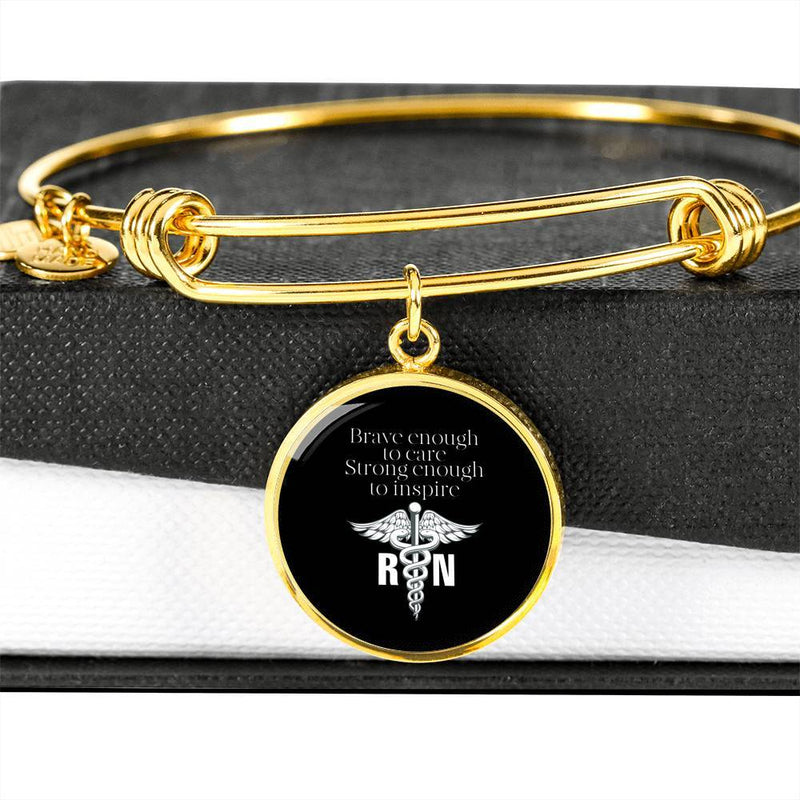 RN - Brave Enough To Care Bangle Bracelet