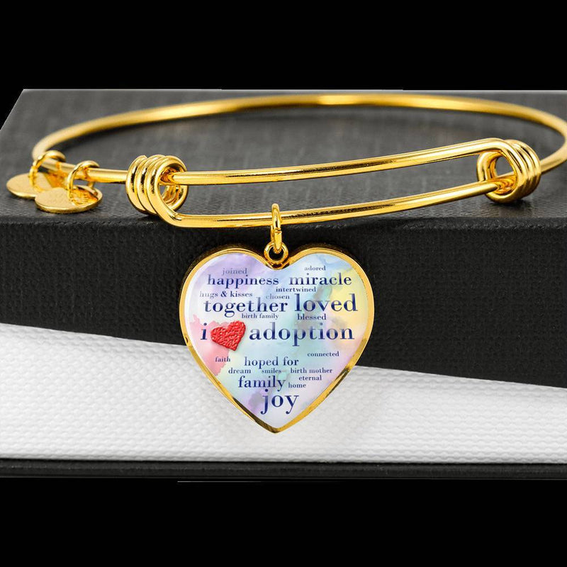 I Love Adoption Bangle Bracelet