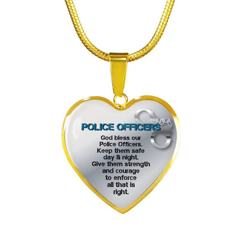 God Bless Our Police Officers Necklace