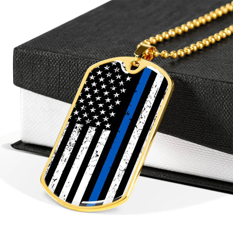 Image of Police Blue Line Flag