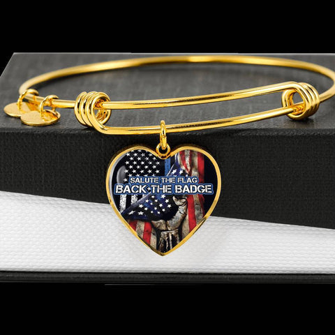 Image of Salute The Flag Back the Badge Bangle Bracelet