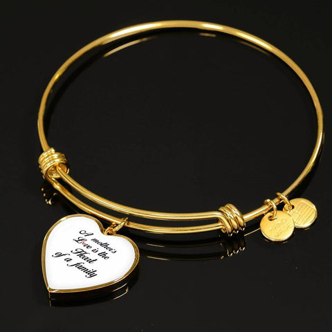 A Mother's Love Is The Heart of a Family Bangle Bracelet