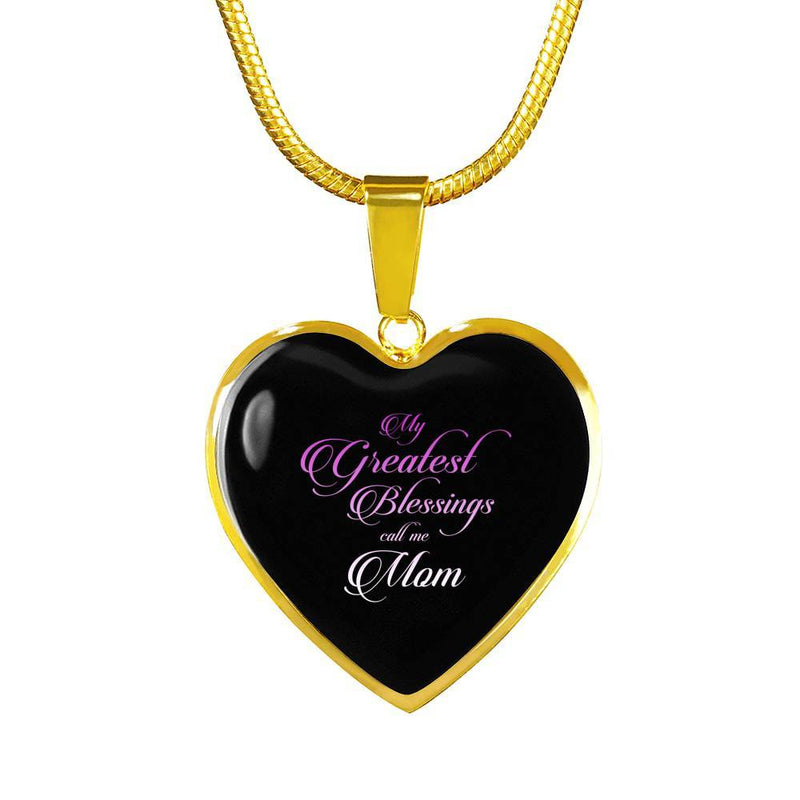 My Greatest Blessing Call Me Mom Necklace