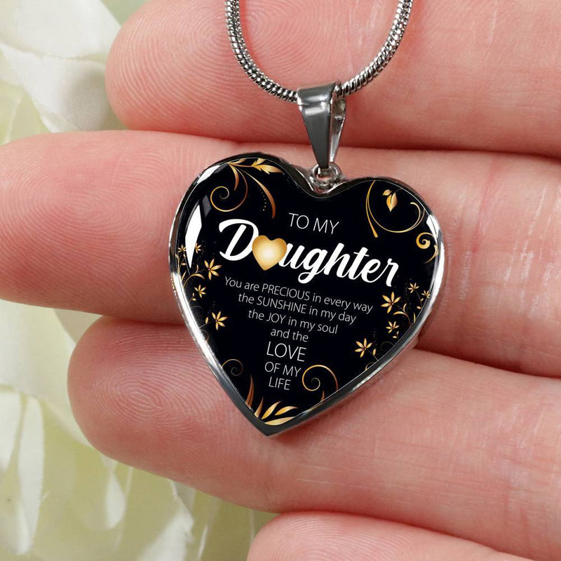 To My Daughter, You Are Precious Necklace
