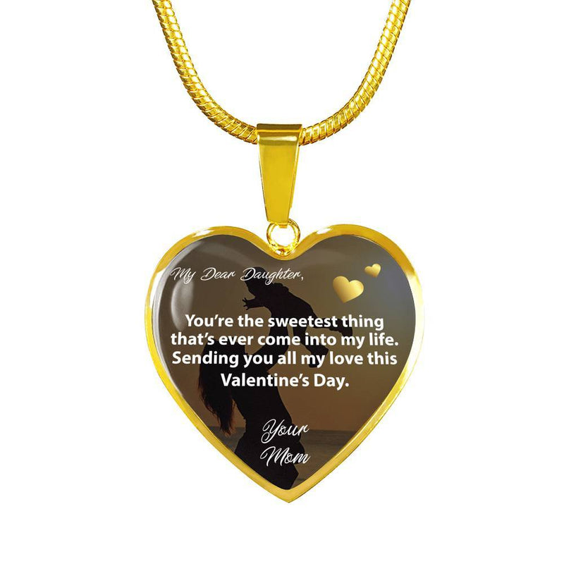 My Dear Daughter - Gold Heart Necklace