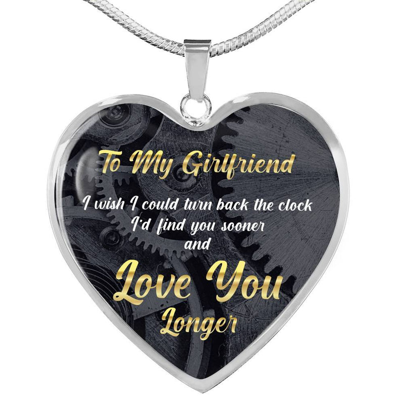 To My Girlfriend - Stainless Heart Necklace
