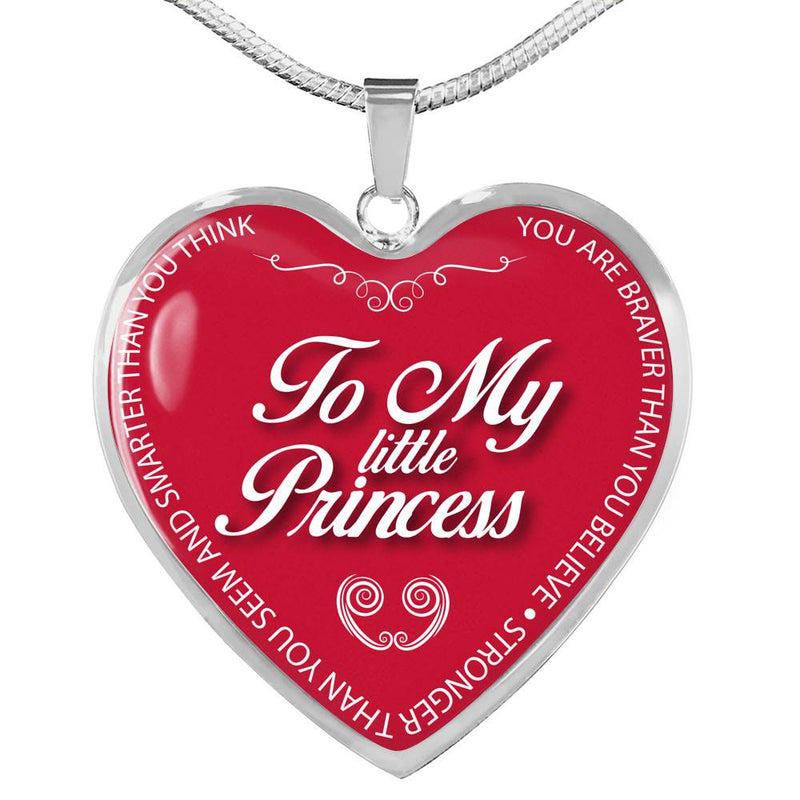 To My Little Princess - Stainless Heart Necklace
