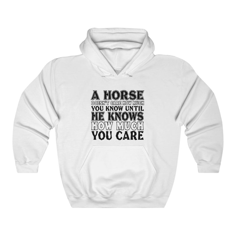 A Horse Doesn't Care Unisex Heavy Blend™ Hoodie