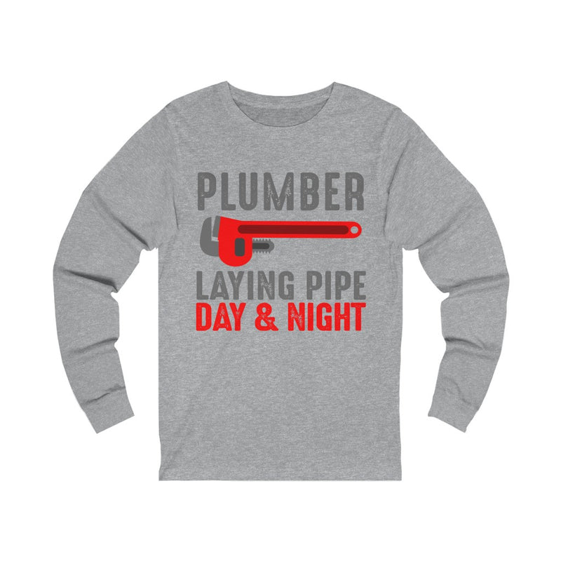 Plumber Laying Pipe Unisex Jersey Long Sleeve T-shirt