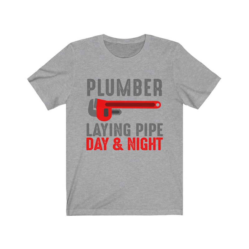 Plumber Laying Pipe Unisex Jersey Short Sleeve T-shirt