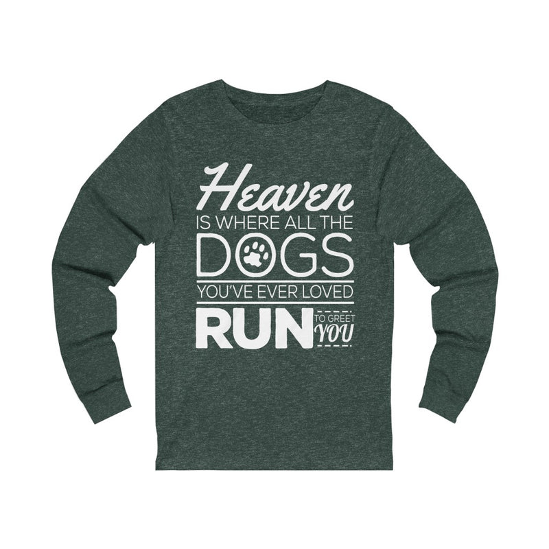 Heaven Is Where Unisex Jersey Long Sleeve T-shirt