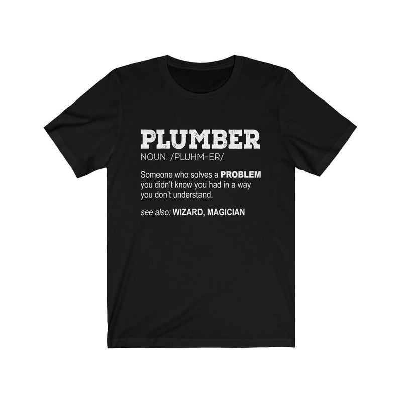 Plumber Definition Unisex Jersey Short Sleeve T-shirt
