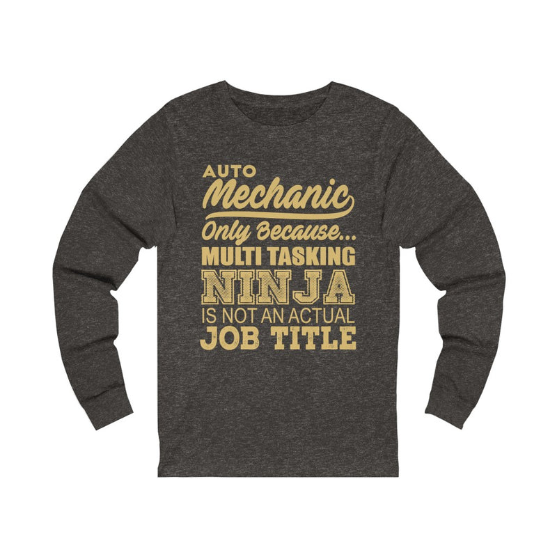 Auto Mechanic Unisex Jersey Long Sleeve Tee