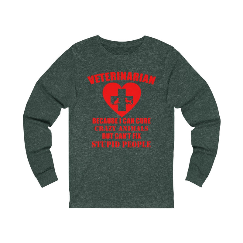 Veterinarian Because Unisex Jersey Long Sleeve T-shirt