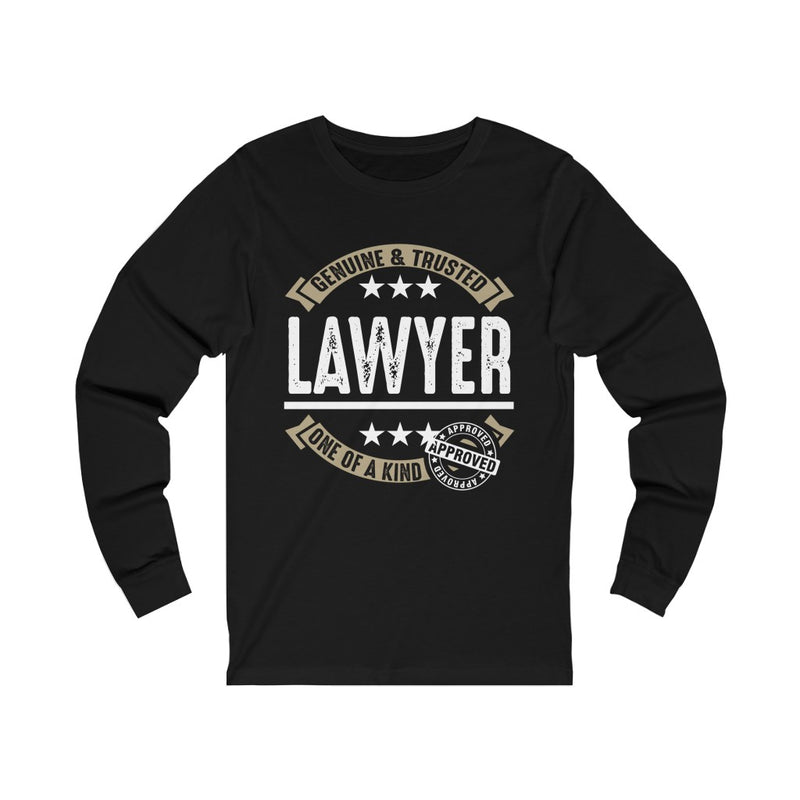 Genuine and Trusted Lawyer Unisex Jersey Long Sleeve T-shirt