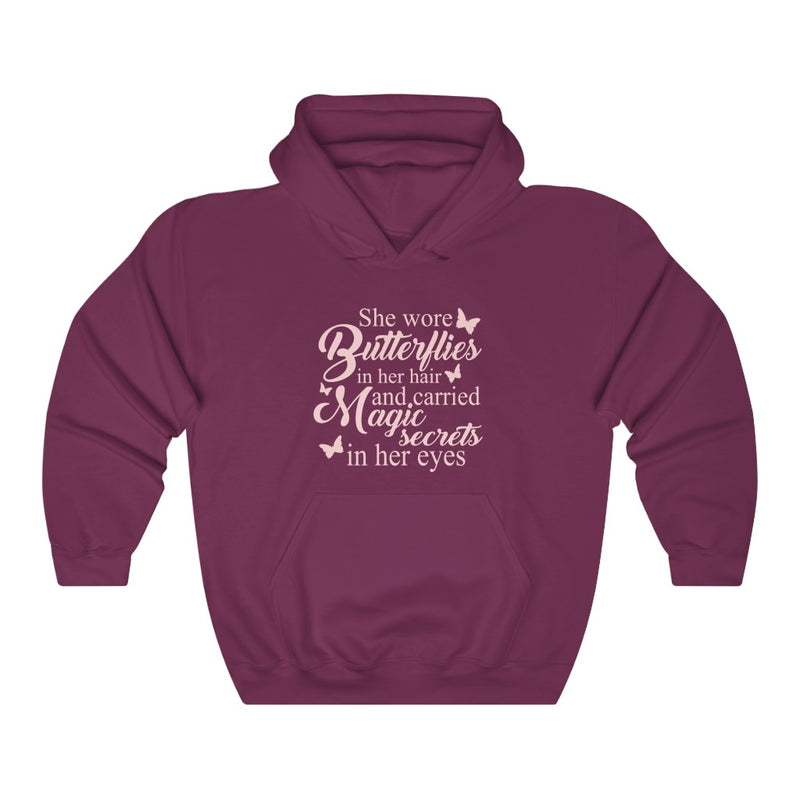 She Wore Butterflies Unisex Heavy Blend™ Hooded Sweatshirt