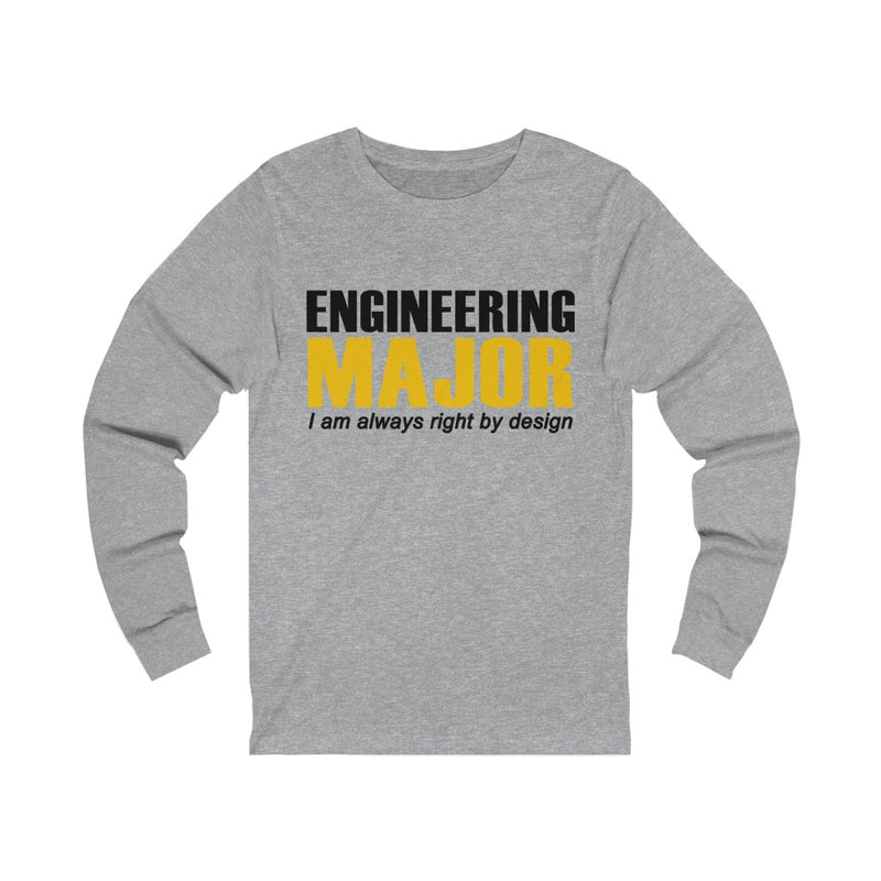 Engineering Major Unisex Jersey Long Sleeve T-shirt