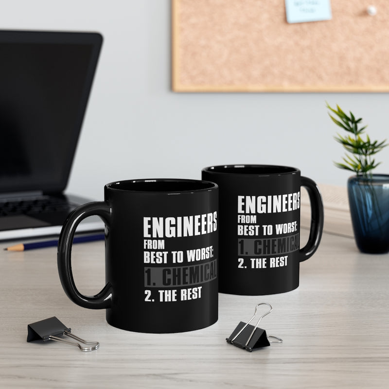 Engineers From Best 11oz Black Mug