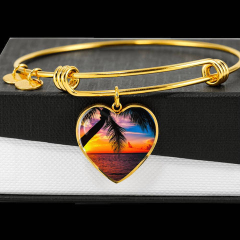 Heart Luxury Bangle with Engraving on the Back by Zena Minx