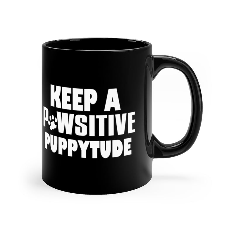 Keep A Pawsitive 11oz Black Mug