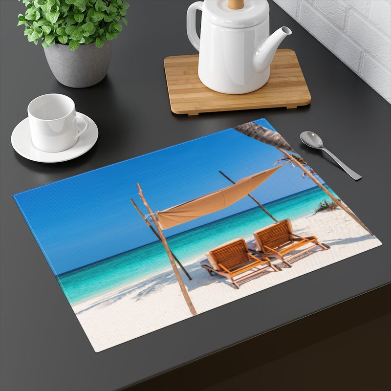 Designer Placemat; Beach Chairs