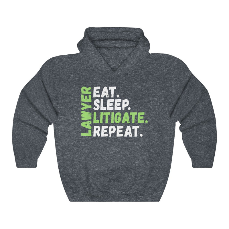 Eat Sleep Litigate Unisex Heavy Blend™ Hooded Sweatshirt