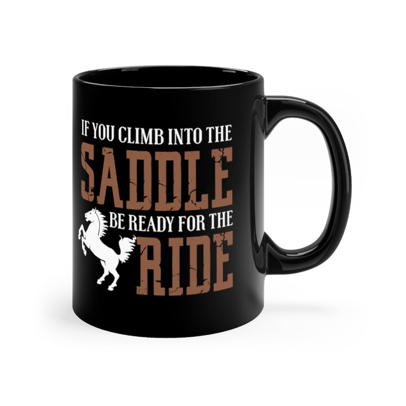 If You Climb 11oz Black Mug