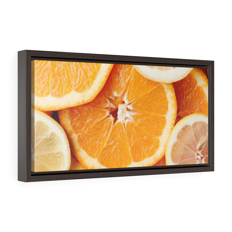 Horizontal Framed Premium Gallery Wrap Canvas; Sweet Oranges