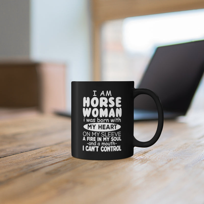 I Am Horse 11oz Black Mug