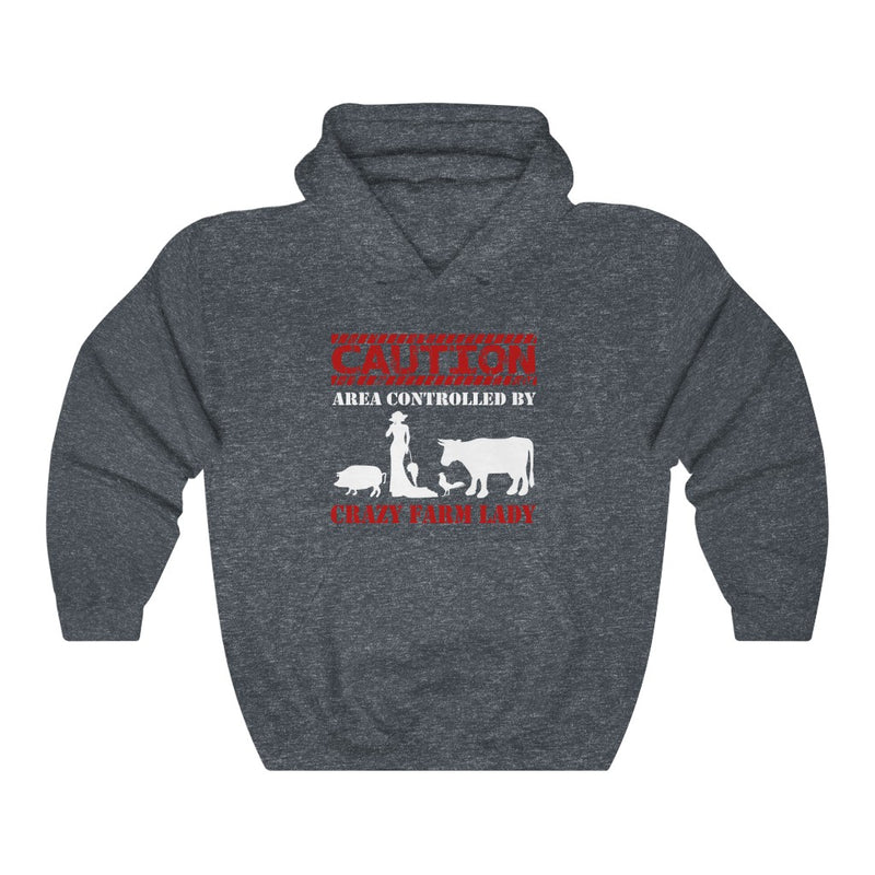 Crazy Farm Lady Unisex Heavy Blend™ Hooded Sweatshirt