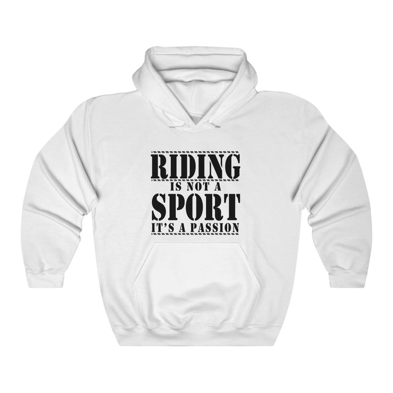 Riding Is Not Unisex Heavy Blend Hooded Sweatshirt