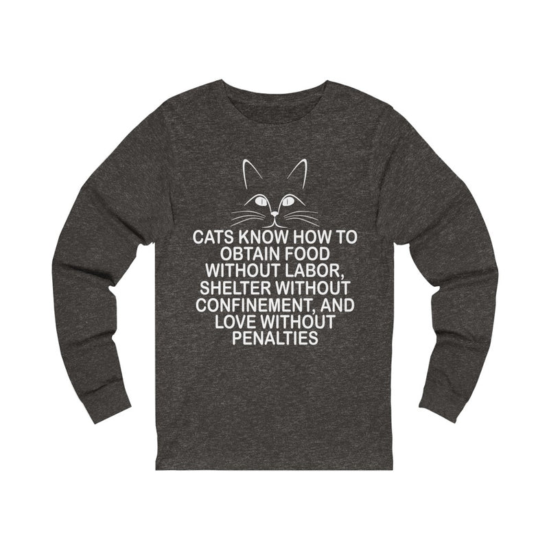 Cats Know How Unisex Jersey Long Sleeve T-shirt