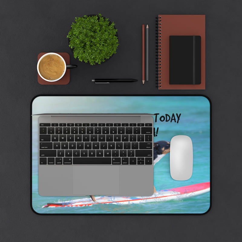 Designer Desk Mat; Surfer Dog