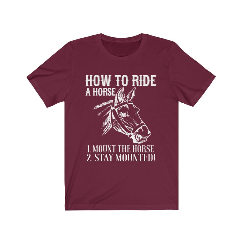 How To Ride Unisex Jersey Short Sleeve T-shirt