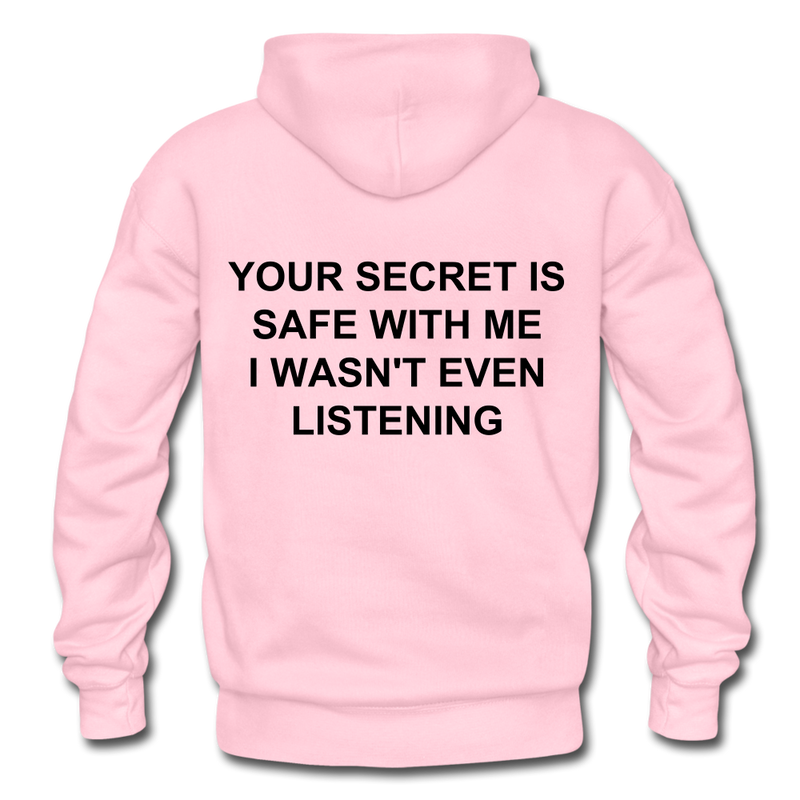 Your Secret Is Safe With Me Heavy Blend Adult Hoodie - light pink