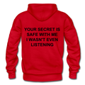 Your Secret Is Safe With Me Heavy Blend Adult Hoodie - red