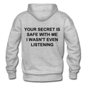 Your Secret Is Safe With Me Heavy Blend Adult Hoodie - heather gray