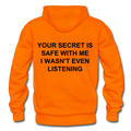 Your Secret Is Safe With Me Heavy Blend Adult Hoodie - orange