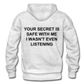 Your Secret Is Safe With Me Heavy Blend Adult Hoodie - light heather gray