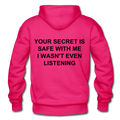Your Secret Is Safe With Me Heavy Blend Adult Hoodie - fuchsia