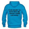 Your Secret Is Safe With Me Heavy Blend Adult Hoodie - turquoise