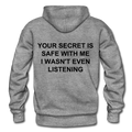 Your Secret Is Safe With Me Heavy Blend Adult Hoodie - graphite heather