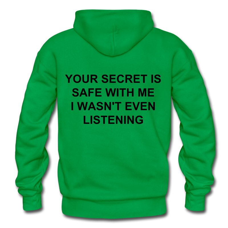 Your Secret Is Safe With Me Heavy Blend Adult Hoodie - kelly green